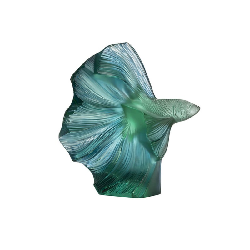 Fighting Fish Small Sculpture Mint Green