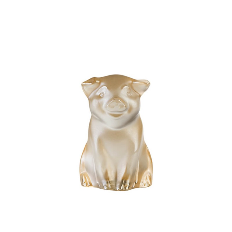 Pig Sculpture Gold Luster