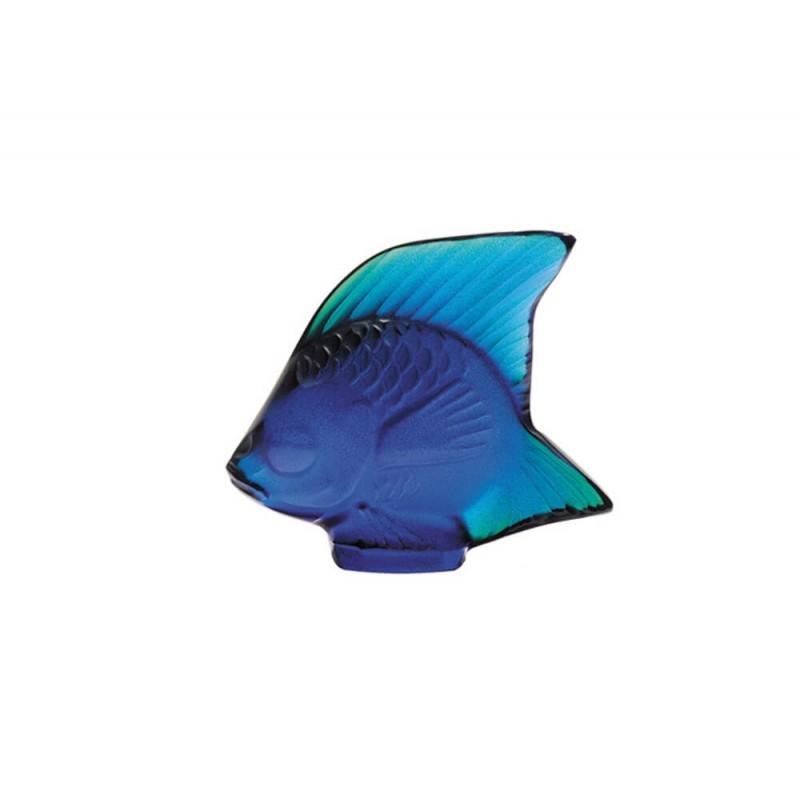 Fish Sculpture Cap Ferrat Blue Luster