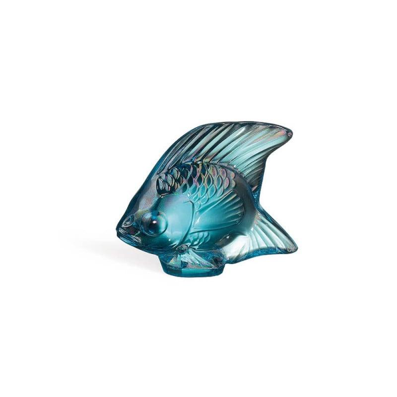 Sculpture Poisson Turquoise Lustré