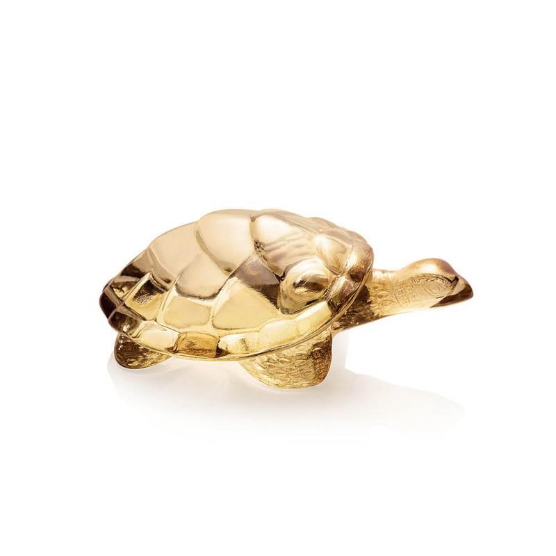 Caroline Turtle Sculpture Gold Luster