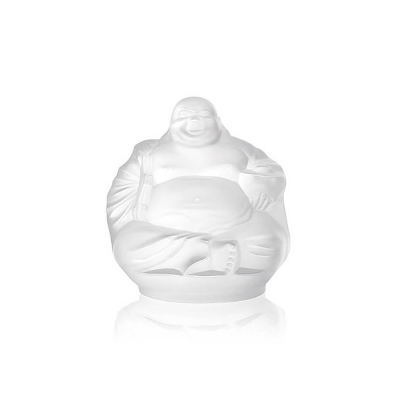 Sculpture Happy Bouddha Incolore