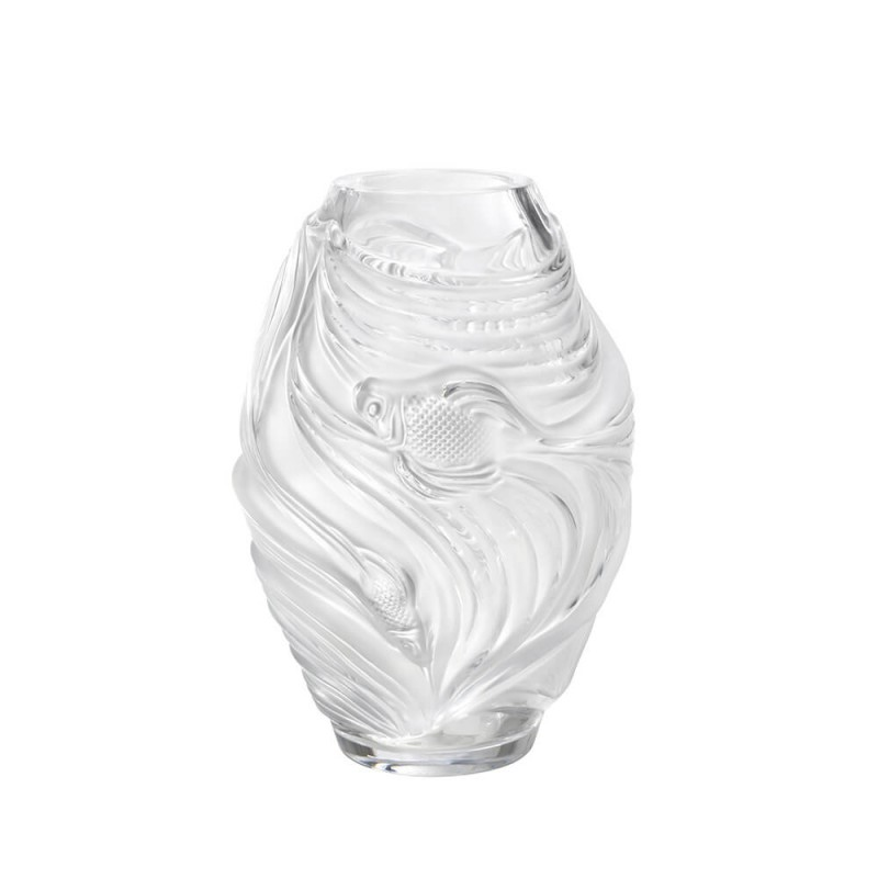 Fighting Fish Vase Medium Size Clear