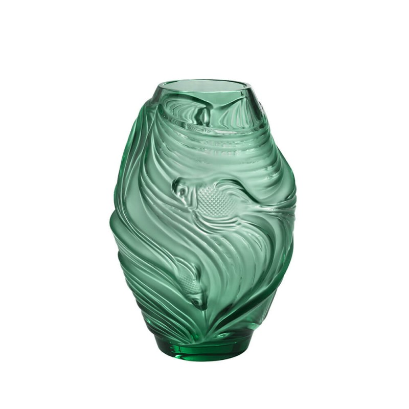 Fighting Fish Vase Medium Size Mint Green