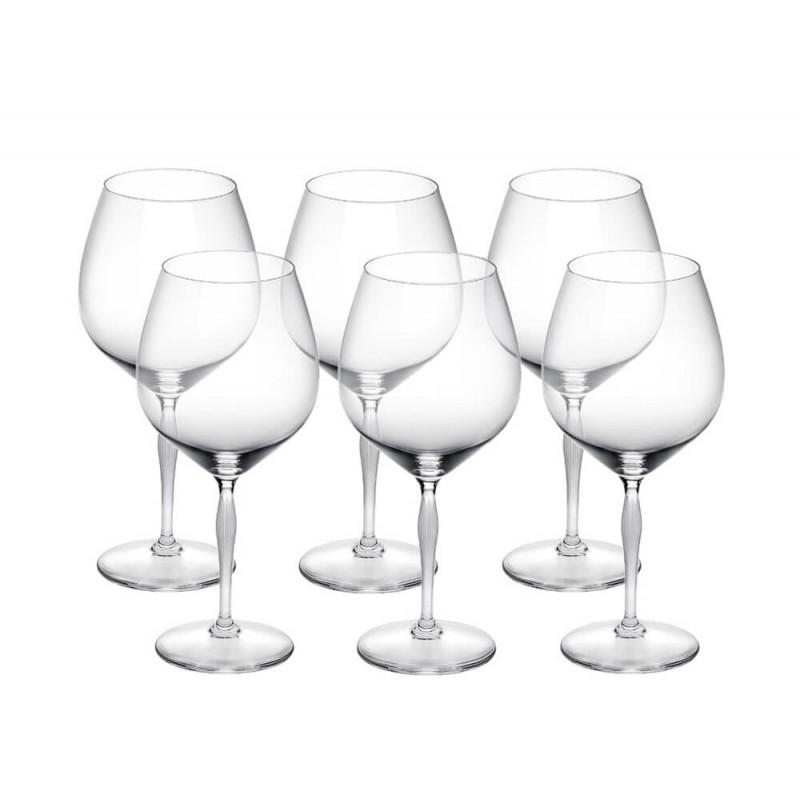 100 Points Burgundy Glass - Set of 6