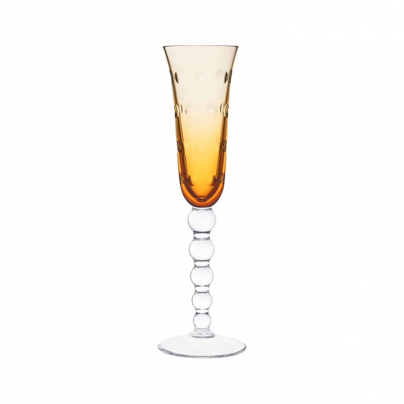 Bubbles Champagne Flute Amber