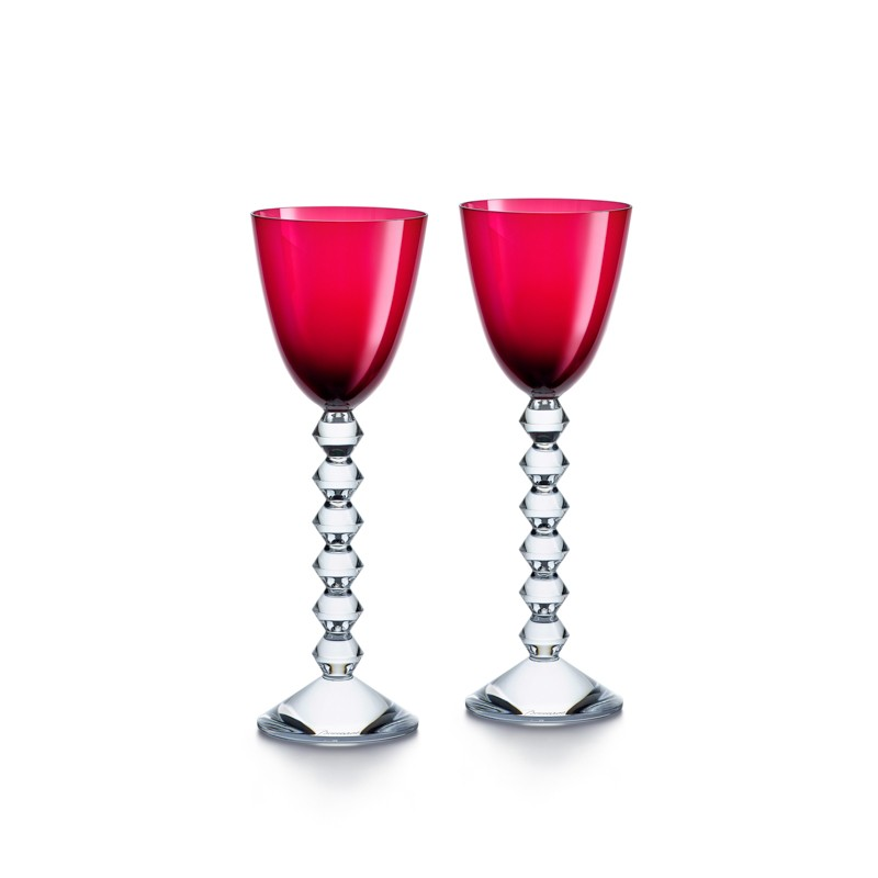 Set of 2 Véga Wine Rhine Glasses Red