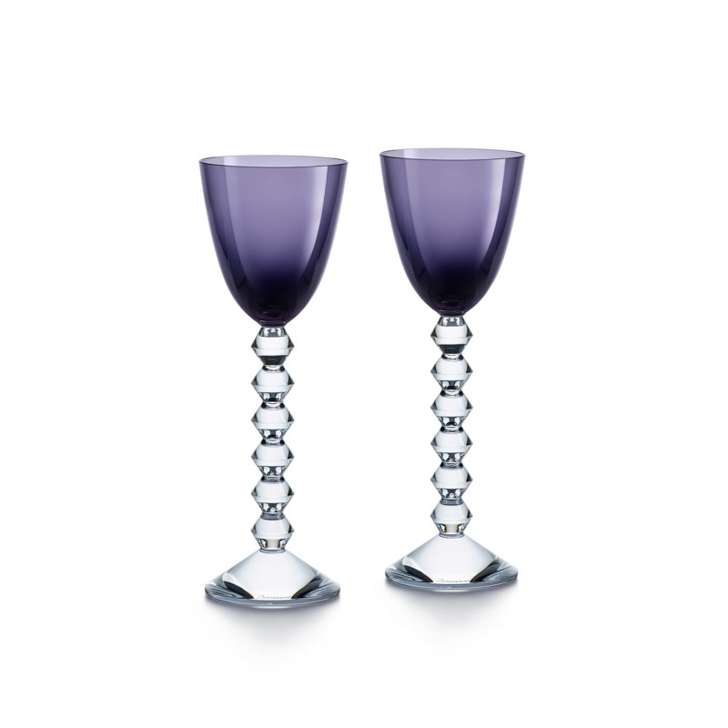 Set of 2 Véga Wine Rhine Glasses Purple