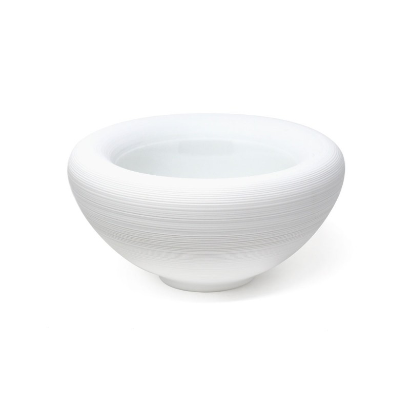 Hemisphere White Satin Bowl Bubble