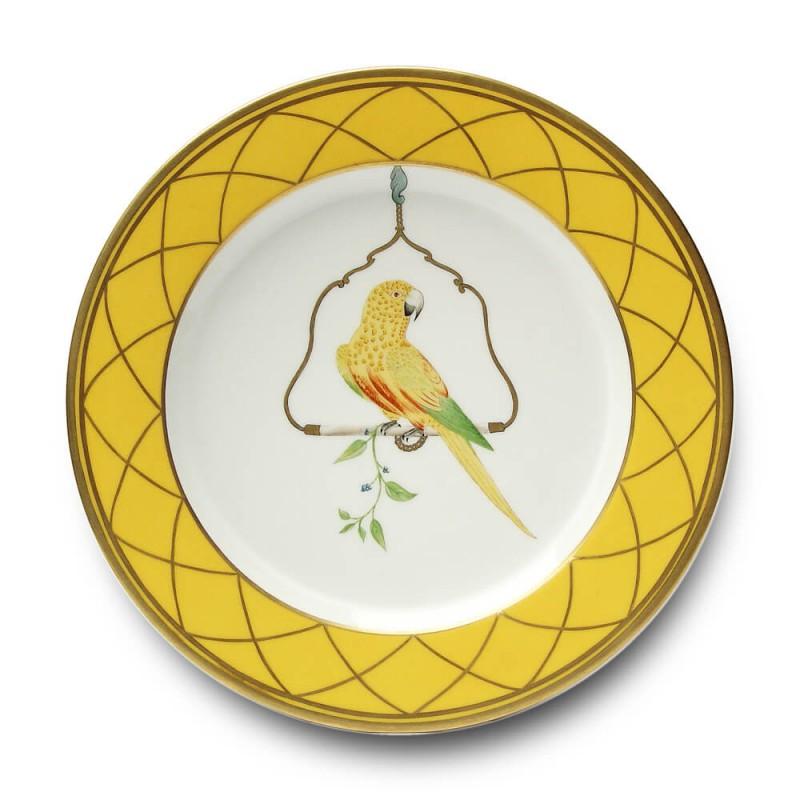 Les Perroquets - Jaune Brésil Buffet plate