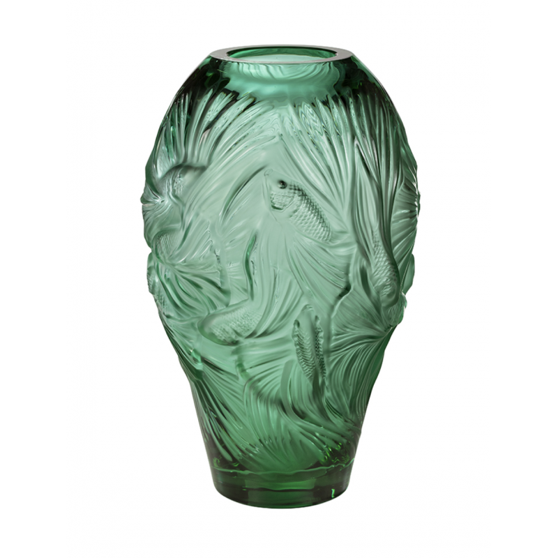 Fighting Fish Vase Large Size Mint Green
