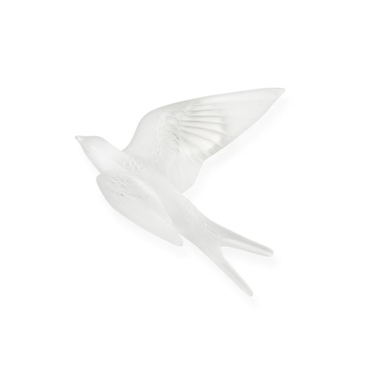Swallow Wings Up wall Sculpture Clear