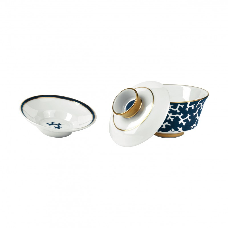 Cristobal Marine Chinese Tea Cup with Lid