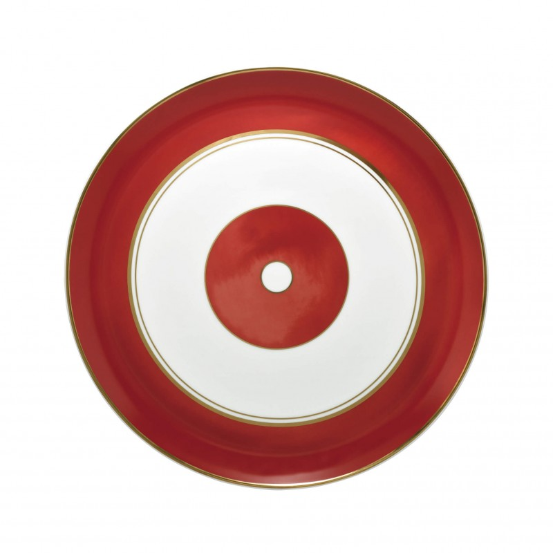 Cristobal Rouge Flat Cake Serving Plate