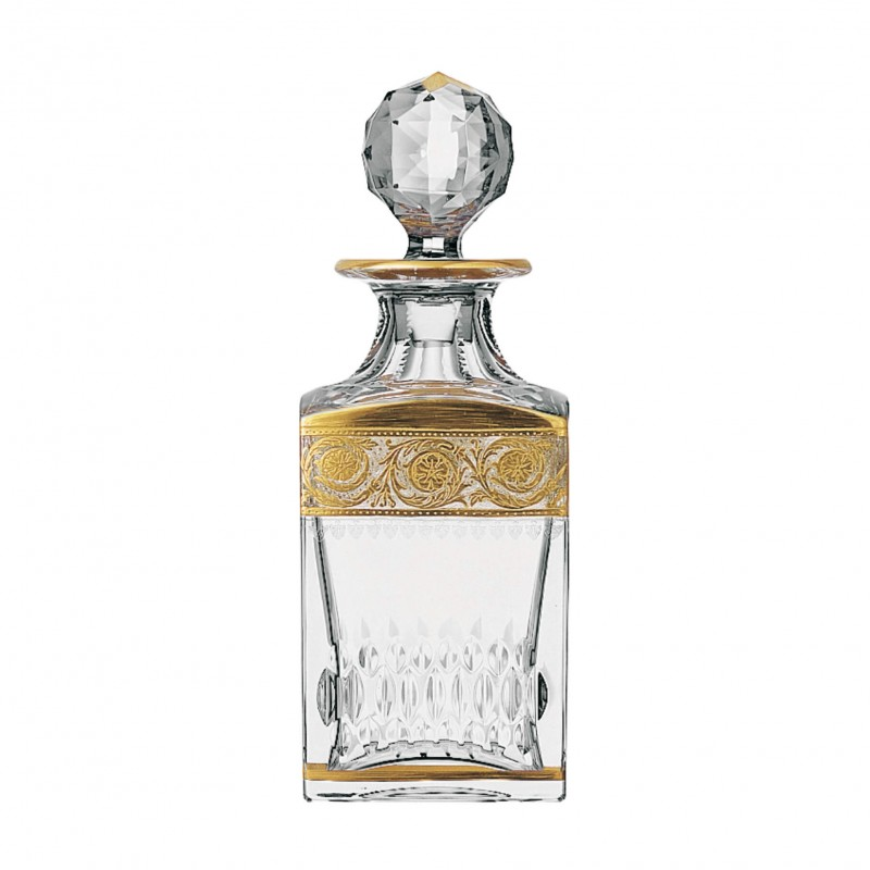 Thistle Gold Square Decanter