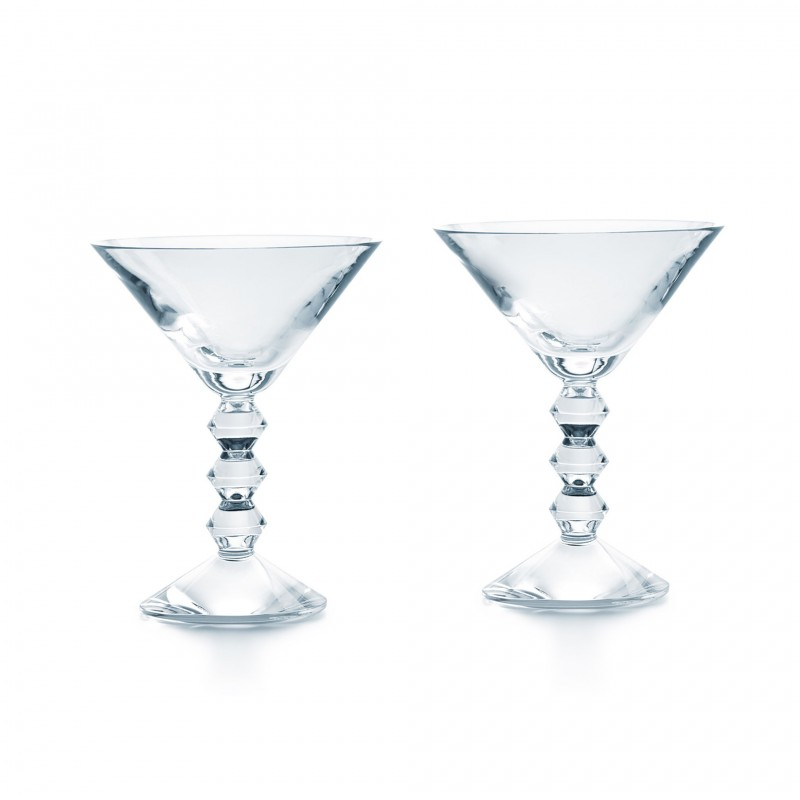 Set of 2 Véga Martini Glasses Clear