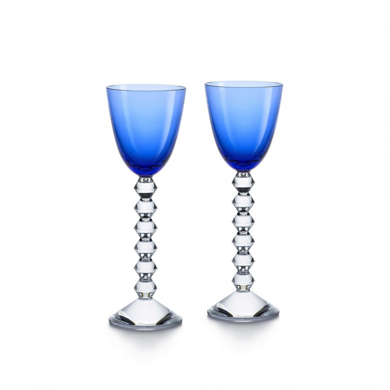 Set of 2 Véga Wine Rhine Glasses Blue