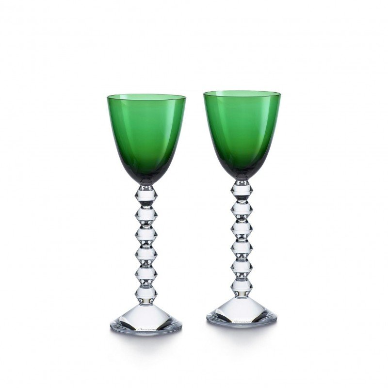 Set of 2 Véga Wine Rhine Glasses Green