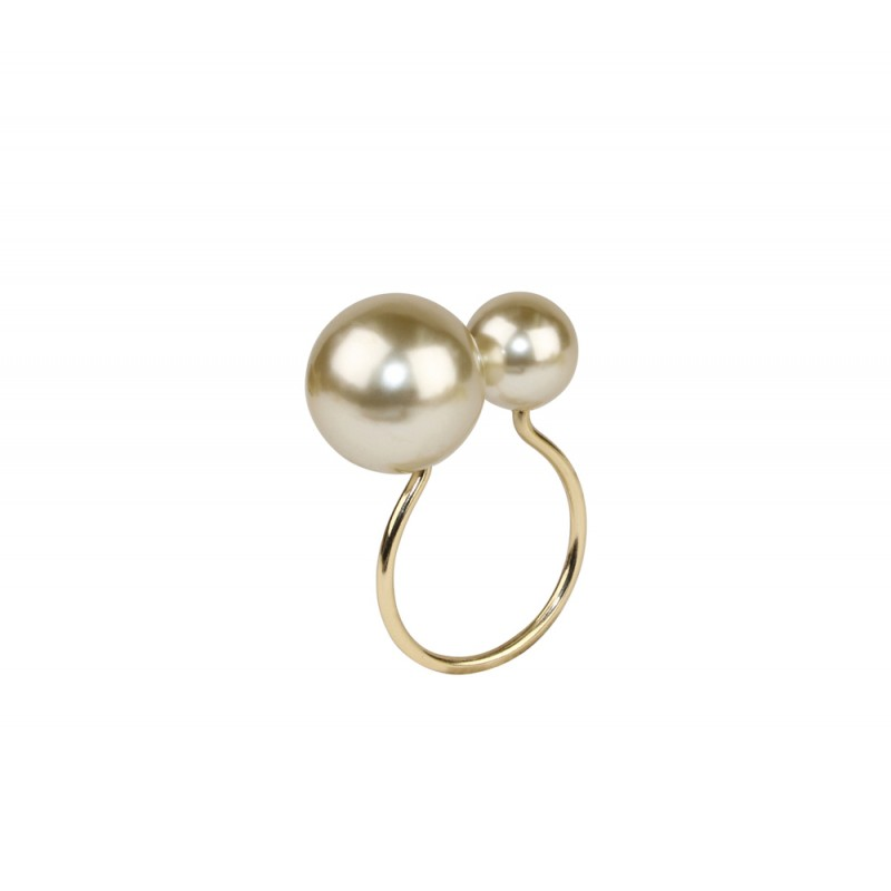 Pearl Napkin Ring Champagne and Gold