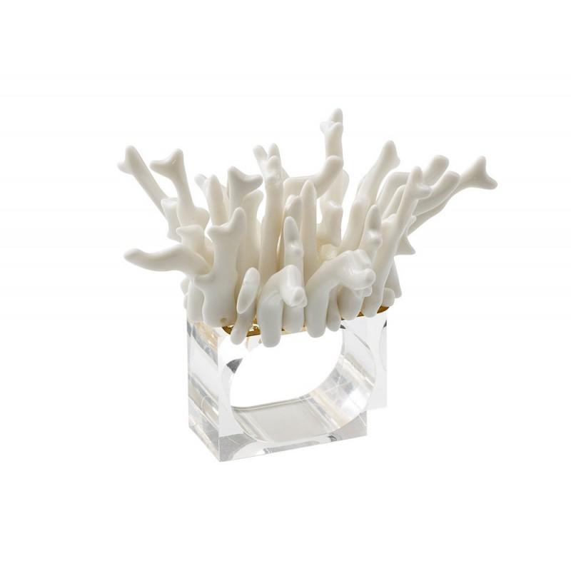 Amalfi Napkin Ring White
