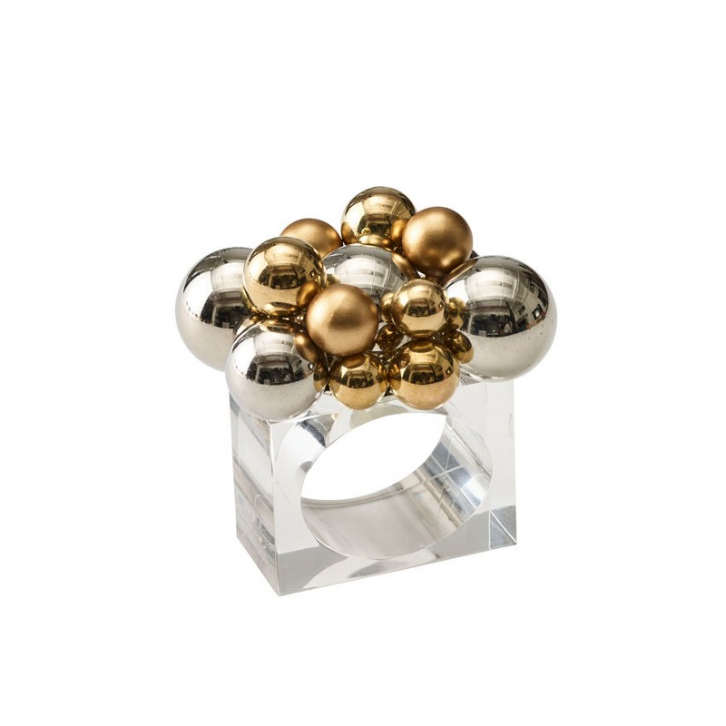 Bauble Napkin Ring Gold and Silver
