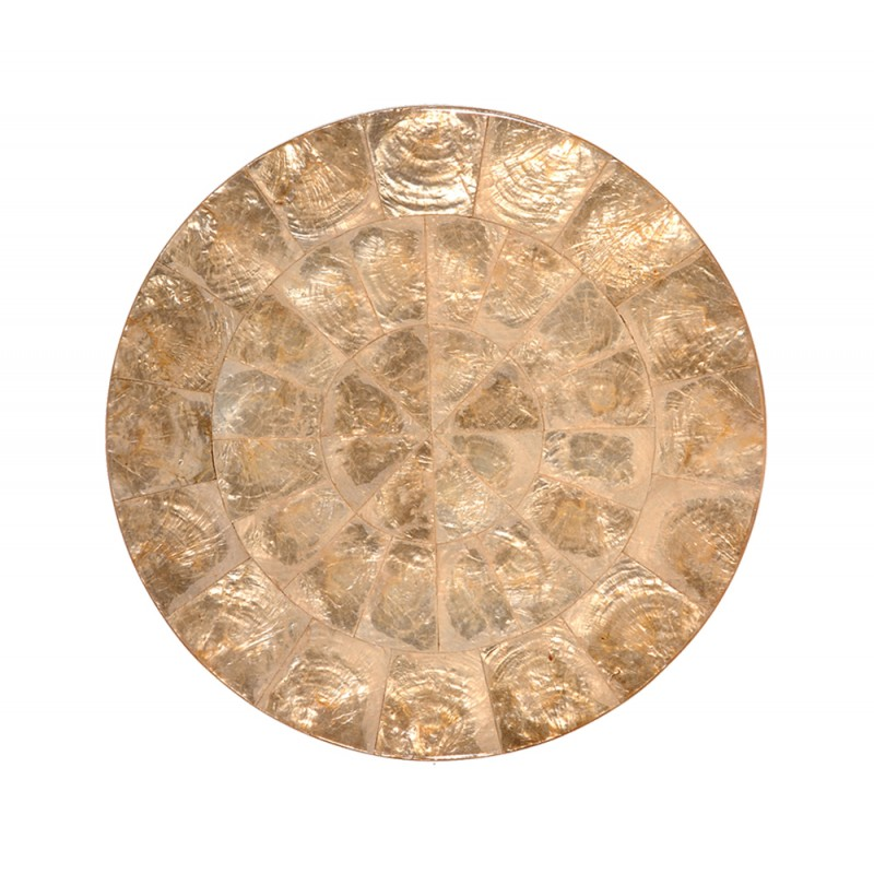 Capiz Round Placemat Champagne