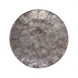 Capiz Round Placemat Grey