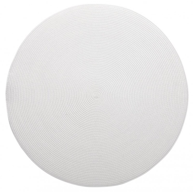Linen Braid Round Placemat White