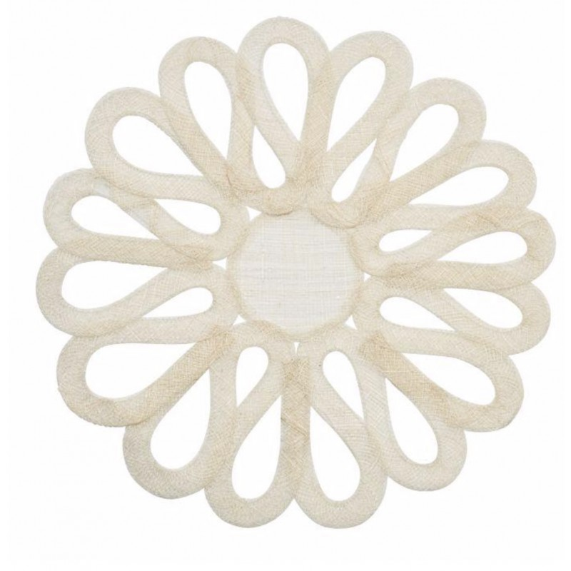 Looped Sinamay Placemat Ivory