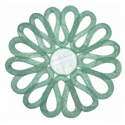 Looped Sinamay Placemat Jade