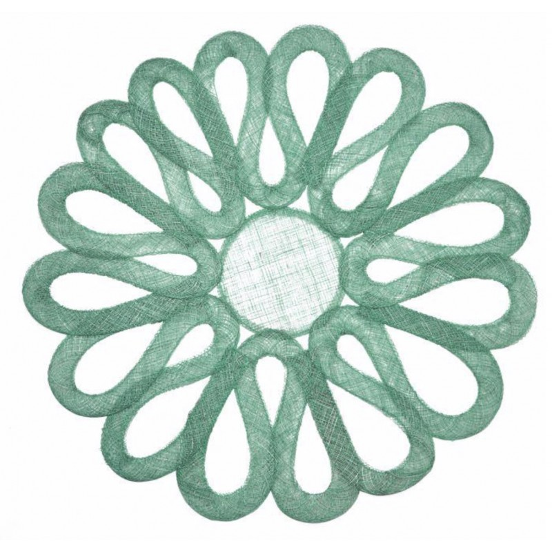 Looped Sinamay Placemat Jade