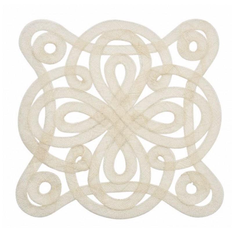 Medallion Sinamay Placemat Ivory