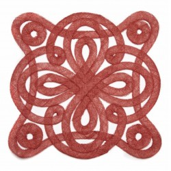 Medallion Sinamay Placemat Red