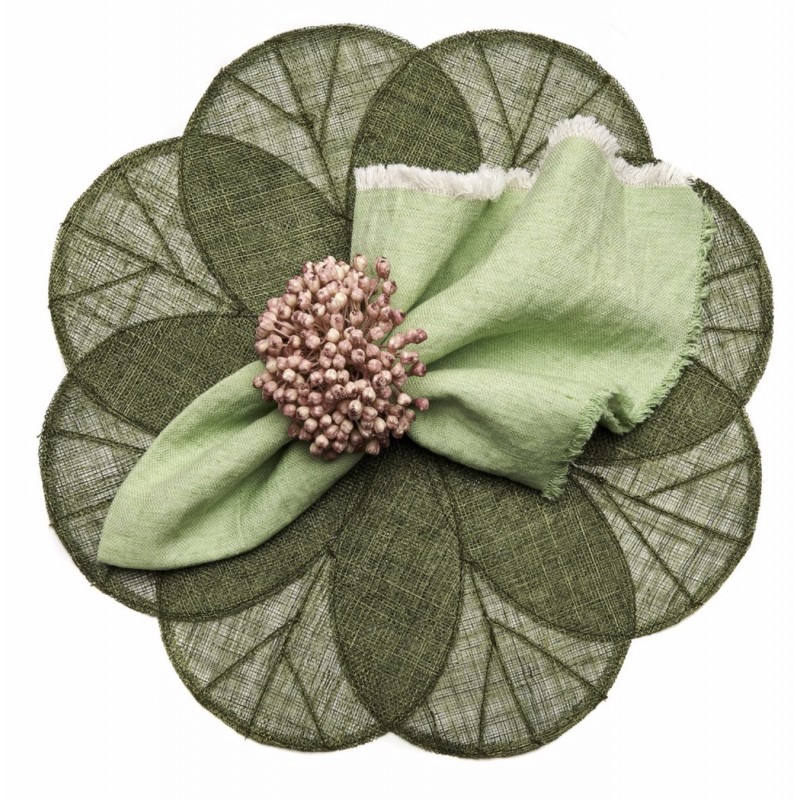 Sinamay Placemat Green