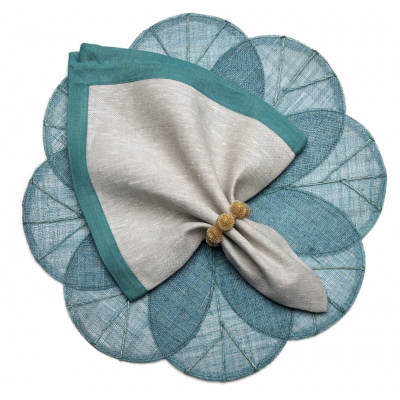 Sinamay Placemat Turquoise