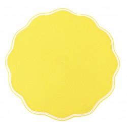 Round Scallop Placemat Lemon