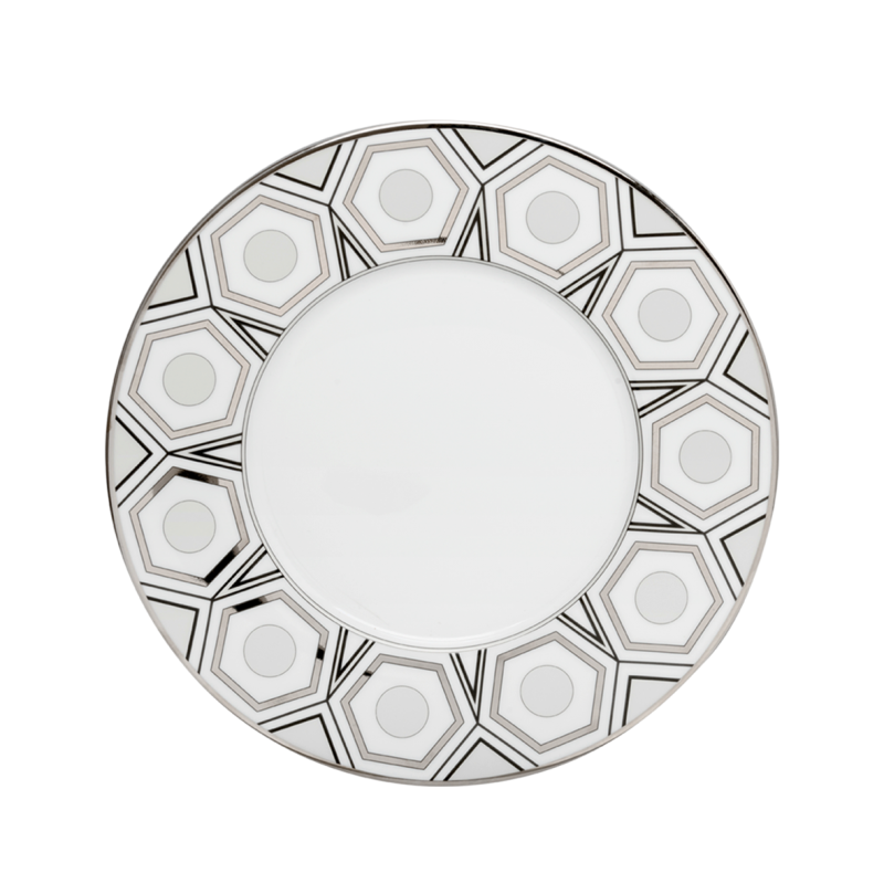 Hollywood Dinner Plate Platinum