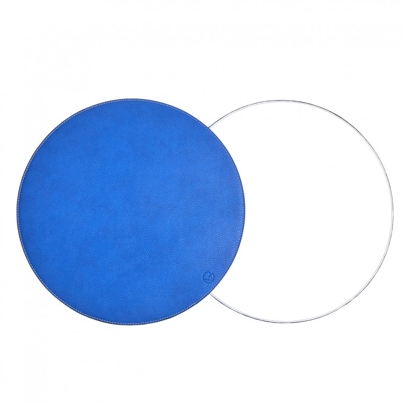 Reversible Faux Leather Round Placemat