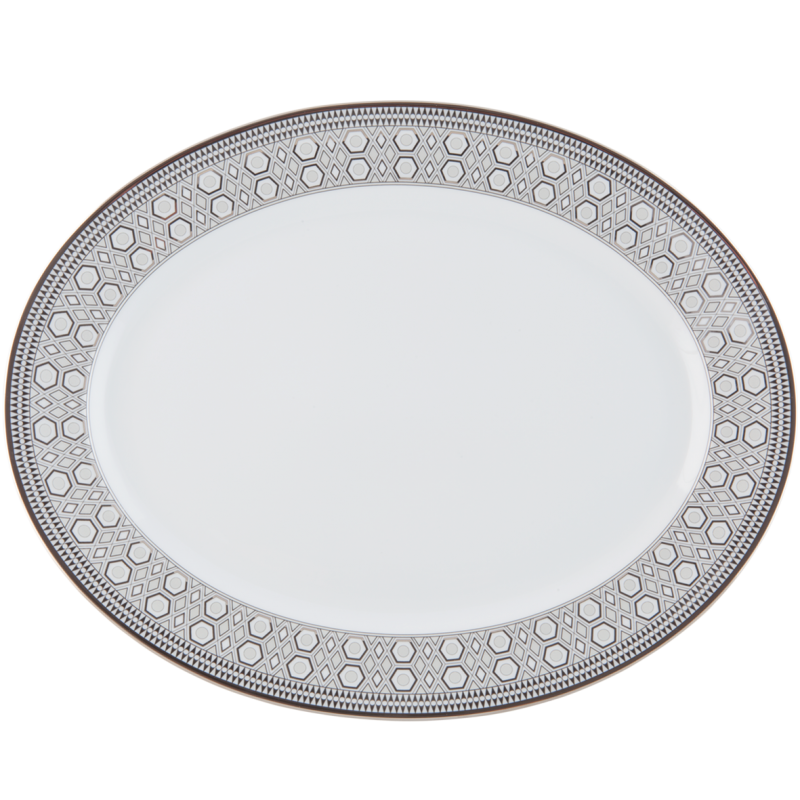 Hollywood Large Oval Platter Platinum