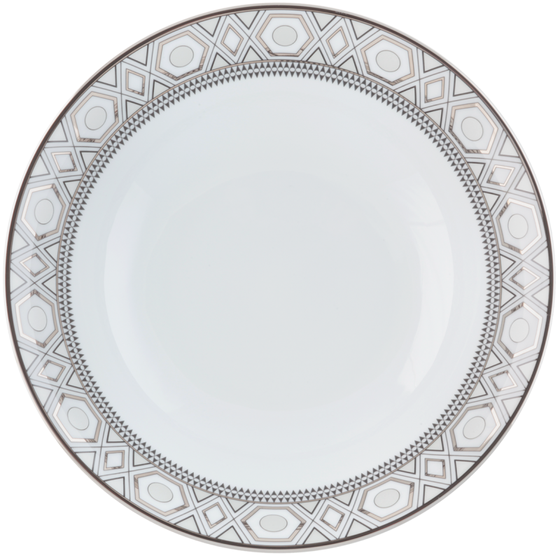 Hollywood Deep Round Platter Platinum