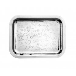 Graffiti Silver Plated Tray
