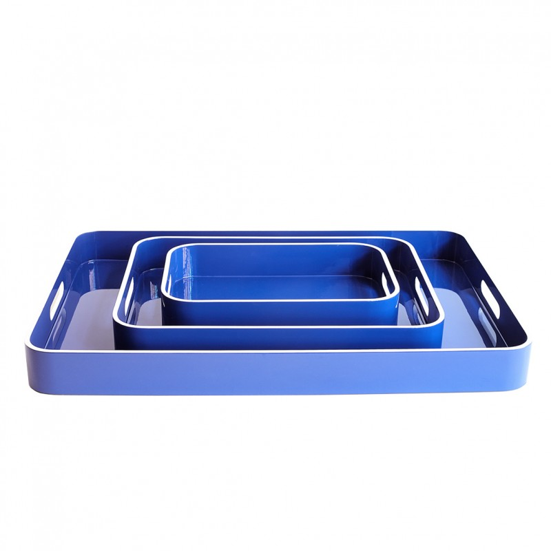 Lacquer Tray Large Blue