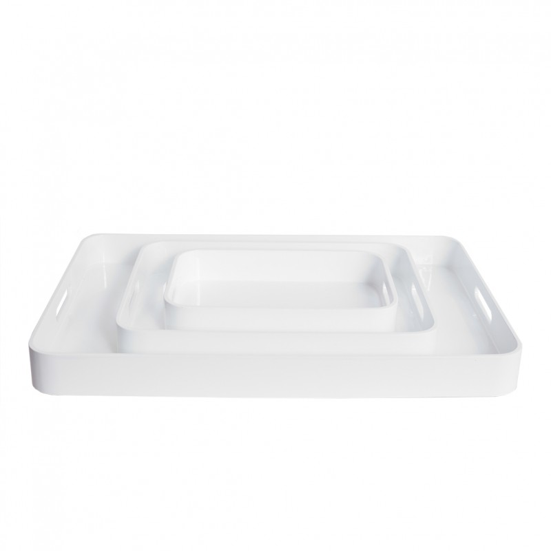 Lacquer Tray Small White