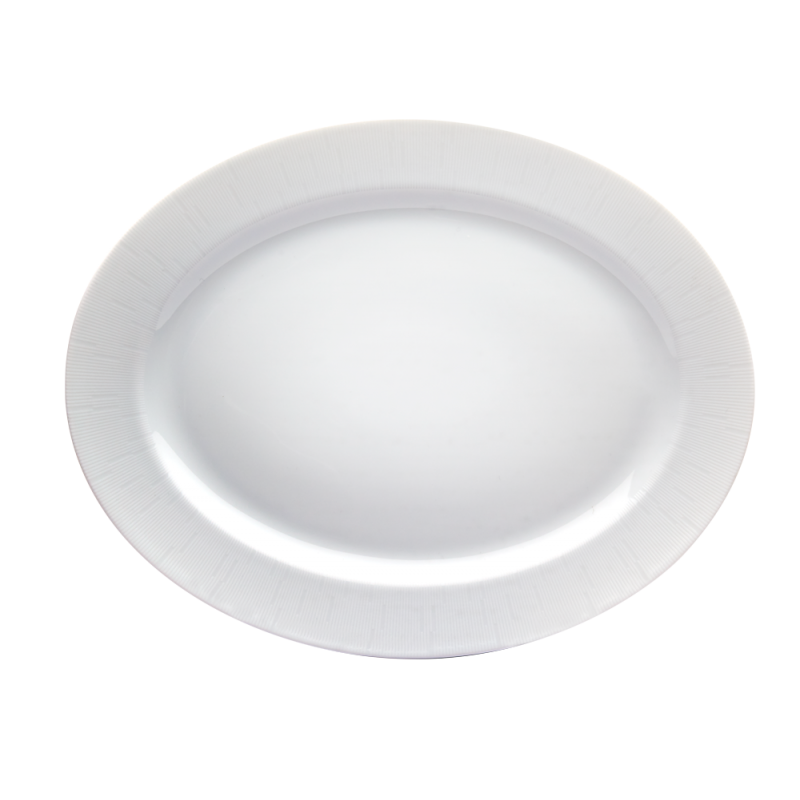 Infini Small Oval Platter White