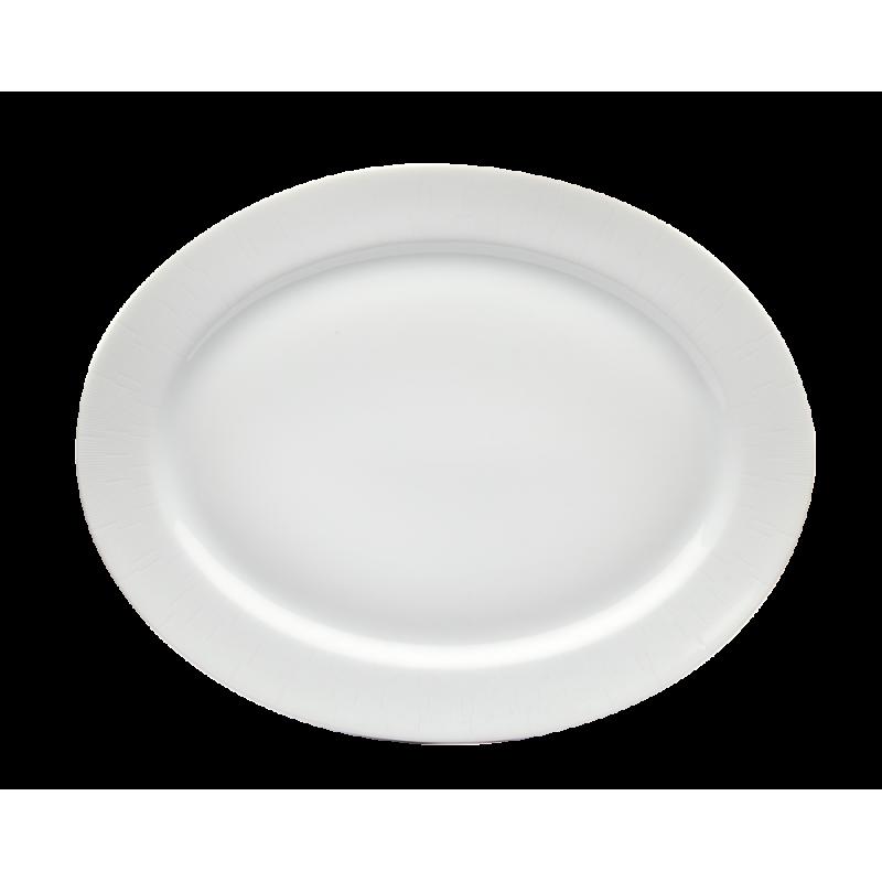 Infini Large Oval Platter White
