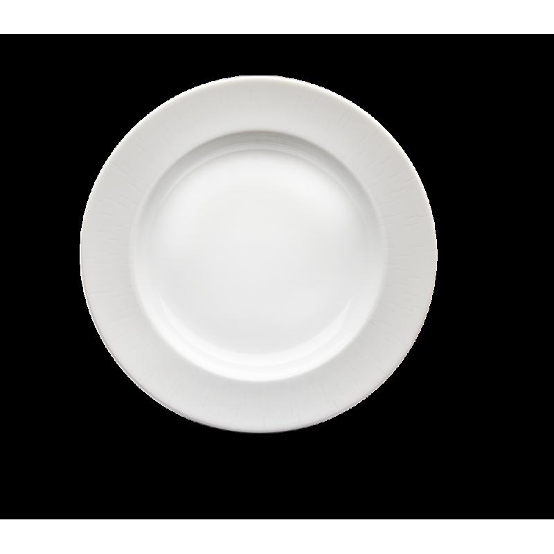 Infini Round Deep Platter White