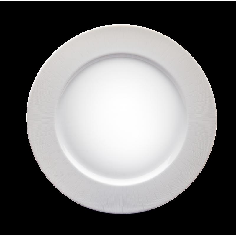 Infini Round Platter White