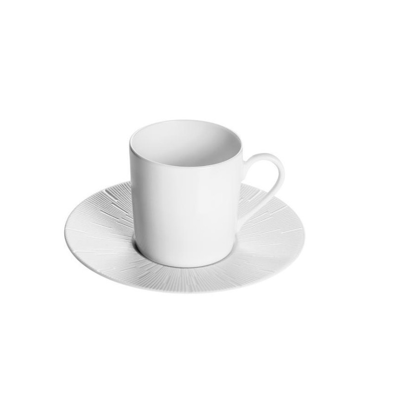 Infini Coffee Cup and Saucer White