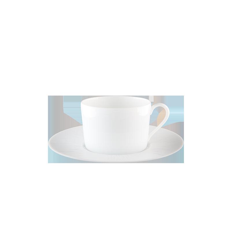 Infini Tea Cup and Saucer White