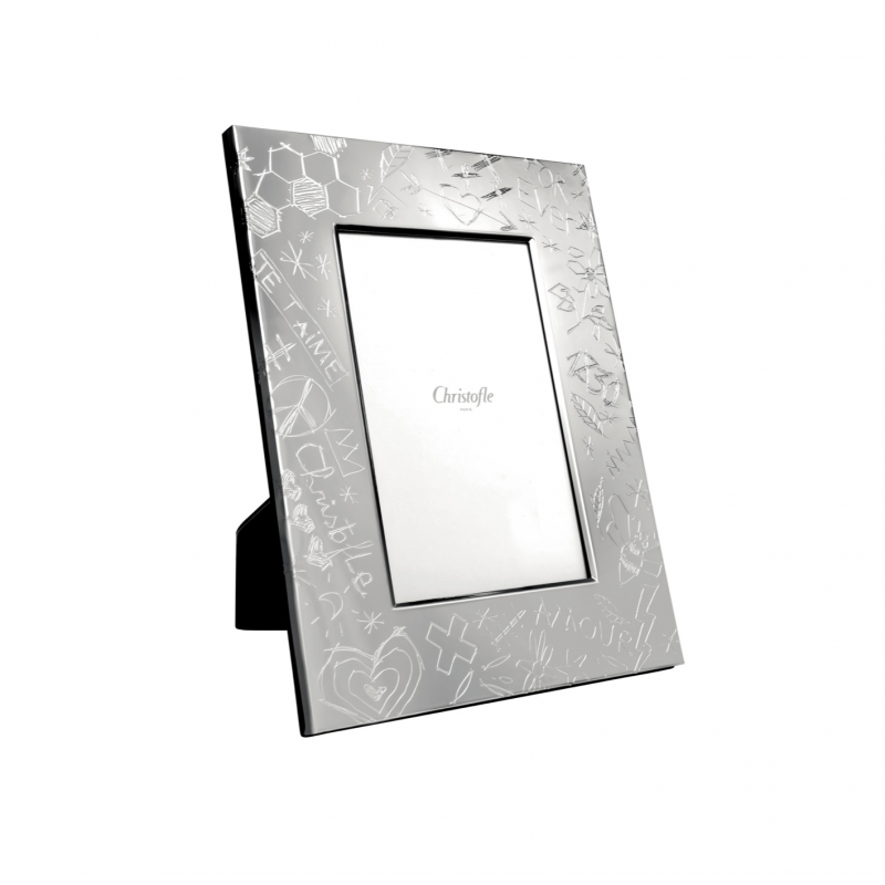 Graffiti Silver Plated Picture Frame 10x15